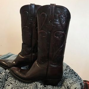 Lucchese Leather Cowboy Boots 8A